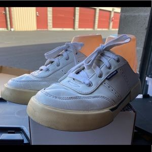 Reebok White Leather Mules Backless Sneakers